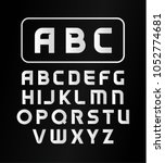 english alphabet  typeface ... | Shutterstock .eps vector #1052774681