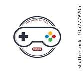 home of video game joystick  ... | Shutterstock . vector #1052779205