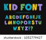 kid font. children's font. set... | Shutterstock .eps vector #1052779427