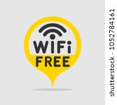 wifi free area mark  sign  icon.... | Shutterstock .eps vector #1052784161
