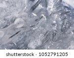 Texture Of Frozen Water In Th...