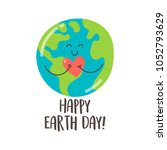 happy earth day greeting card... | Shutterstock .eps vector #1052793629