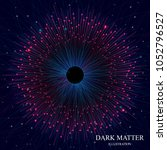 dark matter illustration  dark... | Shutterstock .eps vector #1052796527