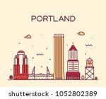 portland  oregon  usa. trendy... | Shutterstock .eps vector #1052802389
