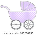 baby carriage   isolated baby... | Shutterstock .eps vector #105280955