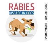 illustration of rabies disease...   Shutterstock .eps vector #1052810009
