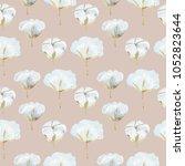hand painted watercolor... | Shutterstock . vector #1052823644