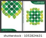 annual report cover design | Shutterstock .eps vector #1052824631