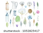 pack of hand painted rustical... | Shutterstock . vector #1052825417