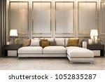 3d rendering nice soft sofa... | Shutterstock . vector #1052835287