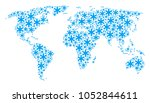 world atlas pattern composed of ... | Shutterstock .eps vector #1052844611