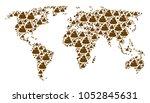 continental atlas concept made...   Shutterstock .eps vector #1052845631