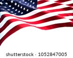 flag of the usa with sunflare | Shutterstock . vector #1052847005