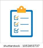 checklist flat icon | Shutterstock .eps vector #1052853737