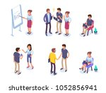 business people character set. ... | Shutterstock .eps vector #1052856941