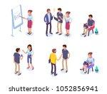 business people character set. ... | Shutterstock .eps vector #1052856941