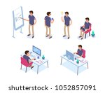 business man character set.... | Shutterstock .eps vector #1052857091