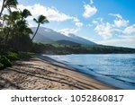 lahaina beach on the island of... | Shutterstock . vector #1052860817