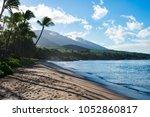lahaina beach on the island of... | Shutterstock . vector #1052860817