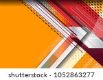 abstract tech background with... | Shutterstock .eps vector #1052863277