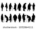 Silhouettes Of Elderly Women I...