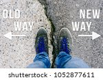 reaching a crossroads having to ...   Shutterstock . vector #1052877611