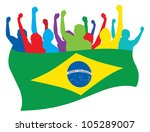 brazil fans vector illustration | Shutterstock .eps vector #105289007
