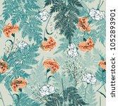 floral seamless pattern...   Shutterstock .eps vector #1052893901