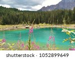 Small photo of famous lake of Carezza