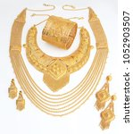 jewellery collections gold | Shutterstock . vector #1052903507