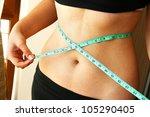 the measurement of the waist | Shutterstock . vector #105290405