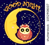 good night. postcard with a... | Shutterstock . vector #1052908037