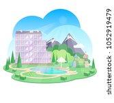 Vector Illustration Mountain...
