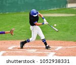 baseball players swinging the... | Shutterstock . vector #1052938331