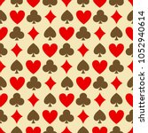 seamless poker background with... | Shutterstock .eps vector #1052940614