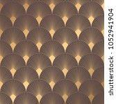 art deco pattern. seamless... | Shutterstock .eps vector #1052941904