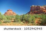 sunny sedona  arizona landscape ...   Shutterstock . vector #1052942945