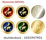 6 in 1 set of mooncoin  moon  ...