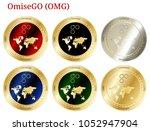 6 in 1 set of omisego  omg  ...   Shutterstock .eps vector #1052947904