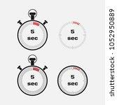 timer 5 seconds on gray... | Shutterstock .eps vector #1052950889