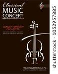 monochrome classical concert... | Shutterstock .eps vector #1052957885
