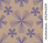 abstract linear seamless flower ... | Shutterstock .eps vector #1052961029