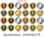 24 in 1 set of populous  ppt  ... | Shutterstock .eps vector #1052962175