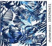 floral pattern texture | Shutterstock .eps vector #1052963651