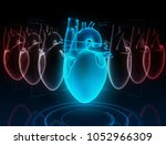 heart research on the digital... | Shutterstock . vector #1052966309