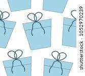 blue gifts seamless pattern | Shutterstock .eps vector #1052970239