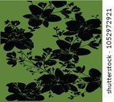 floral pattern texture | Shutterstock .eps vector #1052972921