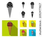 ice cream on a stick  in a... | Shutterstock .eps vector #1052977817