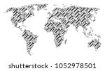 world atlas concept composed of ... | Shutterstock .eps vector #1052978501
