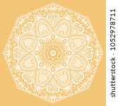mandala isolated design element ... | Shutterstock .eps vector #1052978711